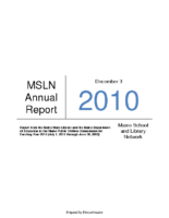 2011-2012 MSLN Report to the PUC