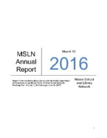 2016-2017 MSLN Report to the PUC