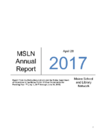 2017-2018 MSLN Report to the PUC