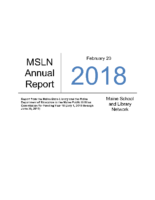 2018-2019 MSLN Report to the PUC