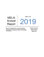 2019-2020 MSLN Report to the PUC